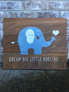 Dream big little one personalized elephant canvas personalized baby dream big little one personalized elephant canvas personalized baby gifts unique baby gift ideas pinterest elephant canvas personalised baby and negle Gallery