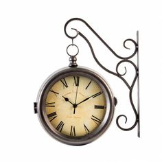 Shabby, Clock, Provence, Wall, Home Decor, Tree Hut Watches, Natural Wood, Parking Lot, Crystals