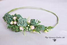 Boho Rustic Untailored whimsy Floral headband by CoolClayFlowers