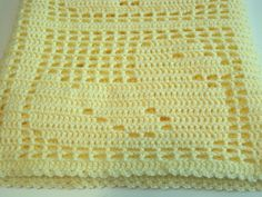 Baby Blanket Baby Afghan Baby Boy Baby Girl by AfghansForBabies Crochet Heart Blanket, Baby Afghan Crochet, Baby Afghans, Crochet Squares, Afghan Patterns, Crochet Blanket Patterns, Baby Sport, Fillet Crochet, Baby Yellow