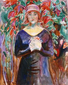 edvard munch(1863-1944), model in the garden, 1930. oil on canvas, 100 x 80 cm. munch-museet, oslo, norway http://www.the-athenaeum.org/art/detail.php?ID=92020