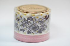 Large Floral Washi Tape  Pink by ShopKStudio on Etsy, $8.50