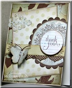 Thank You by Melissa C. - Cards and Paper Crafts at Splitcoaststampers