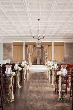 Rustic winter wedding ceremony #weddings #rusticwedding #ceremony #winterwedding #weddingdecor