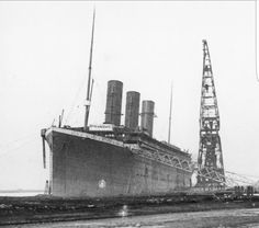 Rare shot of the Titanic with three funnels