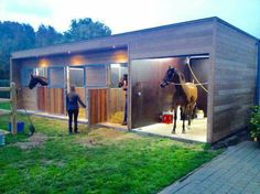 Outdoor  Barn (3 stalls and a wash room)