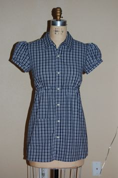 Refashion 18: Empire Waist Camp Shirt from Men's Dress Shirt - After by phthooey, via Flickr