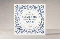 Floral Frame Letterpress Wedding Invitations by Lori Wemple