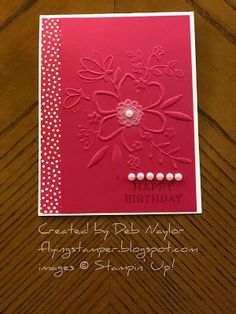 The Flying Stamper: Lovely Floral Happy Birthday June Stampers Birthday Cards For Women, Happy Birthday Cards, Happy Birthdays, Birthday Images, Birthday Quotes, Birthday Greetings, Birthday Wishes, Homemade Birthday Cards, Homemade Cards