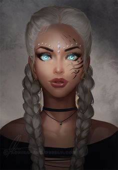 Female fantasy character inspiration - Another! Fantasy Girl, Chica Fantasy, Fantasy Women, Fantasy Princess, Character Portraits, Character Art, Character Ideas, 3d Art, Digital Art Girl
