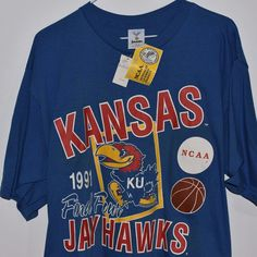 d1451964 Vintage NWT 1991 Jostens Artex Kansas Jayhawks March Madness Final Four  Shirt XL | Clothing,