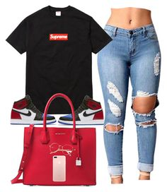 """Supremeee"" by amickens1210 on Polyvore featuring Champion, NIKE and Michael Kors"