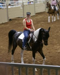 Horses for Heroes at Pinto World 2012.  A sister riding for her brother who is a Marine stationed in Afghanistan.
