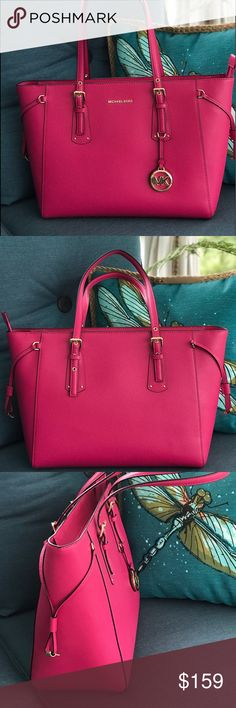 235d0f42c2f7 Spotted while shopping on Poshmark  Michael Kors Pink Voyager Tote!