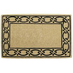 "Creative Accents Lattice Border Doormat in coir fibers, 30"" x 48"" - $87.51"