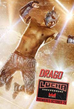 Lucha Underground introduces U. audiences to the high-flying, explosive moves of lucha libre. Lucha Underground, Cthulhu, Rey Mysterio 619, Wrestling Stars, Sports Fanatics, Wwe Tna, Wwe Divas, Masks, Sports Posters