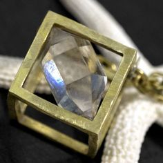 RAW HERKIMER DIAMOND Pendant Distressed by ChristinaRoseJewelry