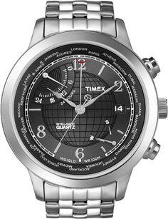 c5e78dea604d Timex Intelligent Quartz Mens Premium IQ All Black World Time