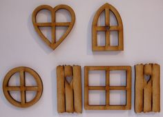 Fairy door accessories: fairy #windows - 6 #piece #mixed wooden fairy window pack,  View more on the LINK: http://www.zeppy.io/product/gb/2/182252623146/