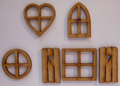 Fairy door accessories: fairy #windows - 6 #piece #mixed wooden fairy window & Fairy door accessory set - fairy door extras - post box - street ... Pezcame.Com