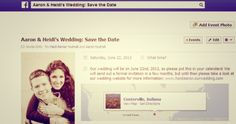 Facebook save the date - connected and cost effective #thriftingthroughlife