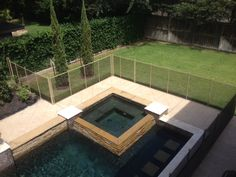 Tan/Brown Pool Safety Fence
