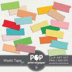 Back to School washi clip art - POP print on paper http://printonpaper.wordpress.com/