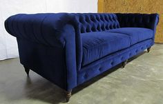 Because you cant sit in a tub couch all the time heres the blue velvet chesterfeild & everyone loves a chesterfield!