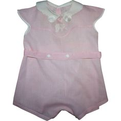 Pink Child's Romper 1930s Unused from camelot-pc-rl on Ruby Lane