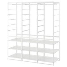 JONAXEL, with mesh baskets, 50x51x104 cm - IKEA Wardrobe Shelving, Ikea Wardrobe, Simple Wardrobe, Wire Shelving, Adjustable Shelving, Shelves, Shelving Units, Open Shelving, Neat And Tidy