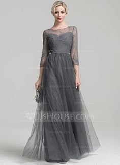 A-Line/Princess Scoop Neck Floor-Length Beading Sequins Zipper Up Sleeves 3/4 Sleeves No Other Colors General Plus Tulle Height:5.7ft Bust:33in Waist:24in Hips:34in US 2 / UK 6 / EU 32 Mother of the Bride Dress