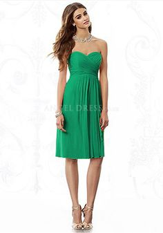 Above Knee A line Sweetheart Empire Waist Sleeveless Chiffon Bridesmaid Gowns