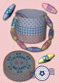 The Papercraft Post: Washi Beads & Gift Container