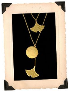 Ginko leaf & locket necklace. My sweet CoCo gave me this necklace