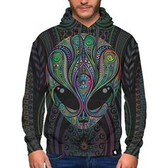 Colorful Alien Hoodie Premium zip-up hoodie hand made by skilled artisans with two-layer construction design, ideal for keeping you warm. The inner layer is Tiger Hoodie, Unicorn Hoodie, Unique Hoodies, Colorful Hoodies, Weed Hoodies, Diamond Hoodie, Comics Girls, Really Cool Stuff