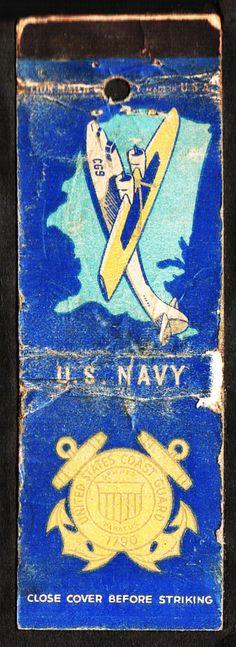 U.S. Navy / U.S. Coast Guard WWII matchbook cover