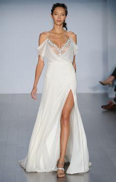 8 sexy wedding dresses from bridal fashion week alvina Valenta and Reem Acra Slit Wedding Dress, 2015 Wedding Dresses, Wedding Dress Shopping, Bridal Dresses, Wedding Gowns, Bridesmaid Dresses, Fall Wedding, Wedding 2015, Casual Wedding
