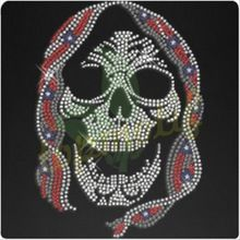 bling skull rhinestone transfer custom designs (http://topmotif.en.alibaba.com/ )