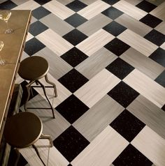 Fun flooring pattern. Easy to lay with tiles too