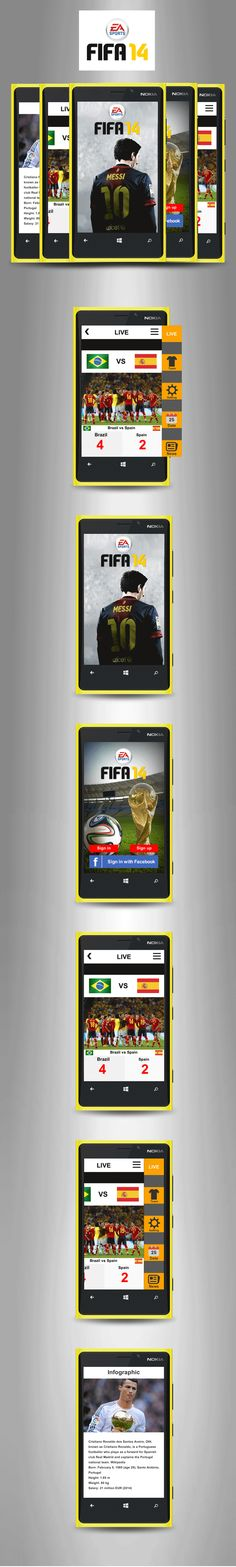 the application FIFA World Cup Brazil 2014 consists of a series of items that soccer fans would like.  He has specific areas of the selections with their lineups, star players, live match, photos and videos. In it we also have pictures of the World Cup venues with direct link to the maps so that the user has access to getting the game. Also has tables, videos of the best moments, news, etc.. The user can share everything in their social networks.