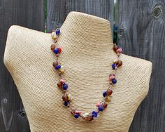 Triple Strand Knotted Necklace