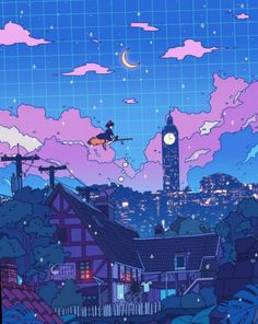 Some Ghibli animation! Hope this helps you guys who are about to sleep. ✨ Some Ghibli animation! Hope this helps you guys who are about to sleep. Cute Anime Wallpaper, Scenery Wallpaper, Retro Wallpaper, Animes Wallpapers, Live Wallpapers, Aesthetic Anime, Aesthetic Art, Purple Aesthetic, Arte 8 Bits