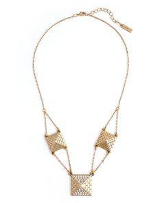The Pyramid Trio Necklace by JewelMint.com, $29.99