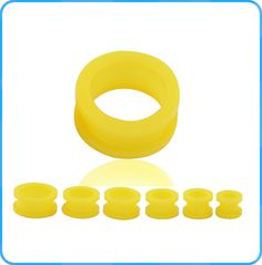 Beautiful Ear Piercing Body Jewelry Fashion Yellow Acrylic Ear Tunnel Gauges