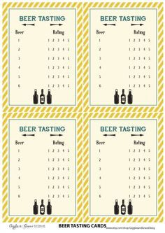 free printables beer tasting cards