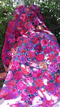 Mediterranean hexagons from Kaffe Fassett/Brandon Mably workshop at Roxanne's A Wish and a Dream, Carpinteria, CA.