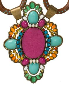 Jaded Sunrise Necklace in Aztec by Sorrelli
