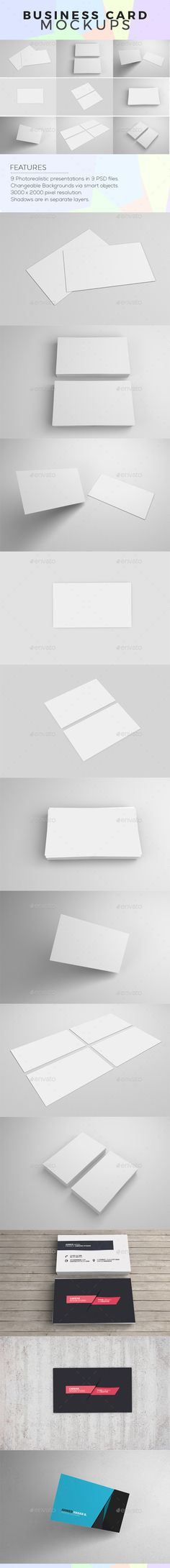 Realistic Business Card Mock-up | Business cards, Mock up and Business