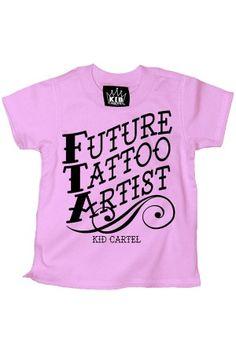 FUTURE TATTOO ARTIST TEE $14.95 at www.rebelcircus.com