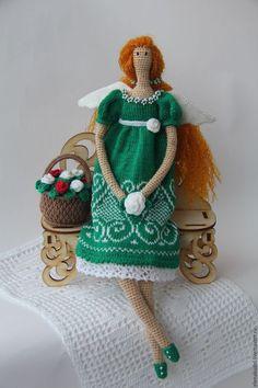 Куклы Тильды ручной работы. Ярмарка Мастеров - ручная работа. Купить Тильда Цветочный ангел. Handmade. Комбинированный, тильда ангел